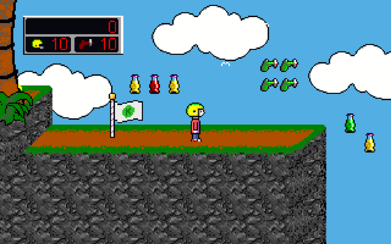 File:Fangame-ingame-Commander Keen in the Dream Machine.png